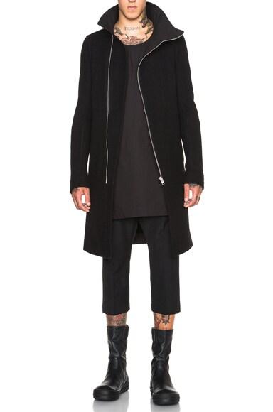 Rick Owens Tubeway Coat in Black