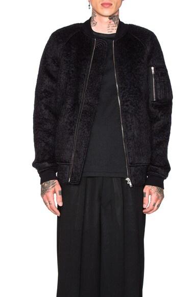 Rick Owens Flight Bomber Jacket in Black