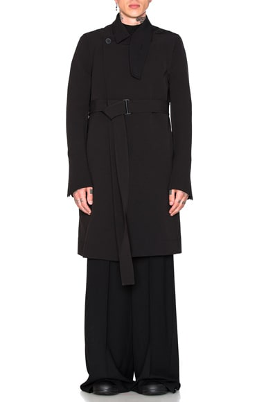 Rick Owens Trench Coat in Black