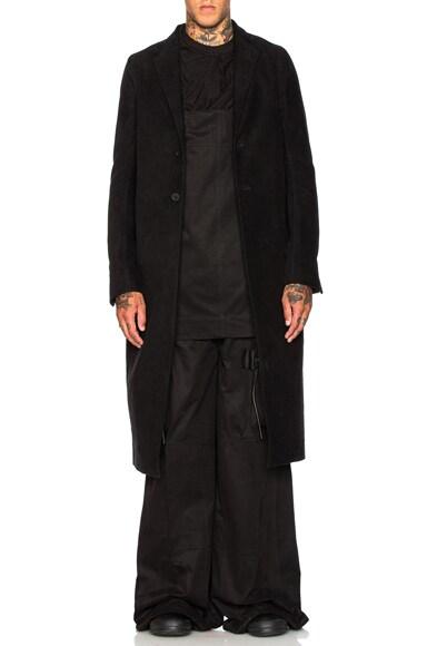 Rick Owens Moreau Coat in Black