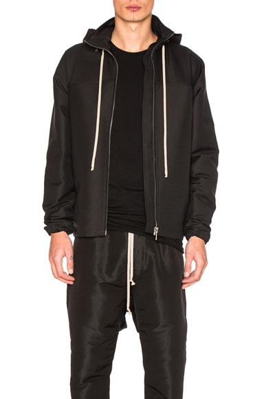Rick Owens Windbreaker Bomber Jacket in Black