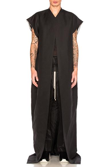 Rick Owens Beach Coat in Black