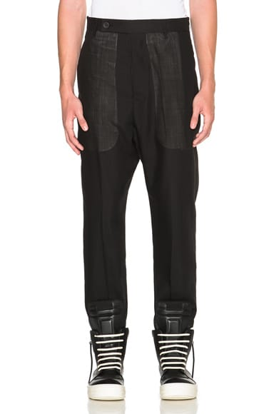 Rick Owens Astaire Trousers in Black