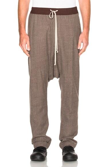 Rick Owens Drawstring Long Pants in Dust