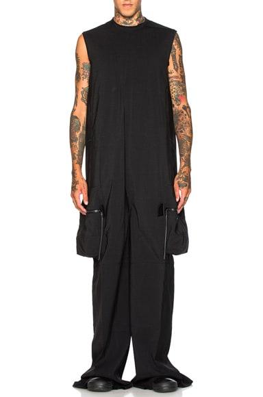 Rick Owens Sleeveless Body Bag in Black