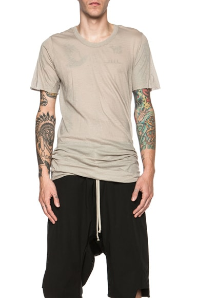Rick Owens Basic Cotton Tee in Pearl