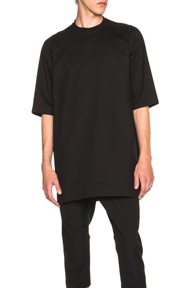 Rick Owens Short Sleeve Bambi Tee in Black
