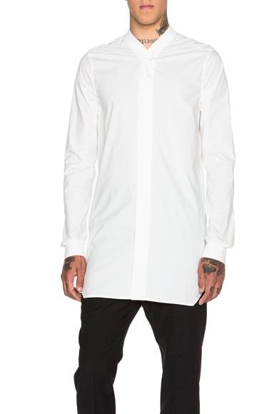 Rick Owens Faun Shirt in Milk