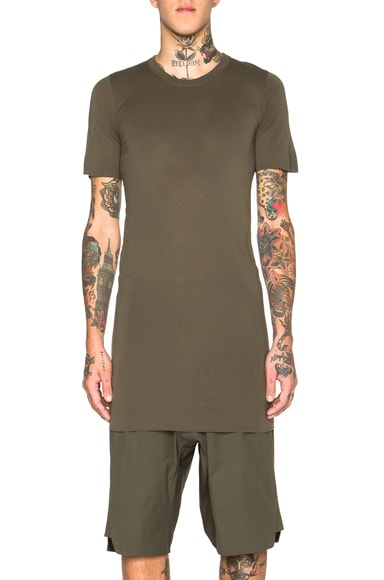 Rick Owens Basic Short Sleeve Tee in Palm
