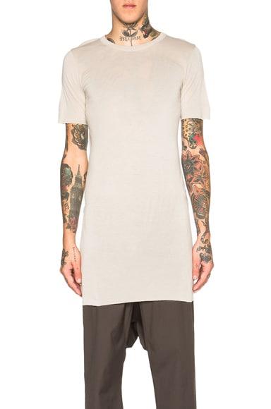 Rick Owens Basic Short Sleeve Tee in Pearl