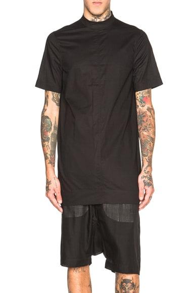 Rick Owens Moody Short Sleeve Tunic in Black