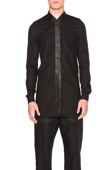 Rick Owens Faun Shirt in Black