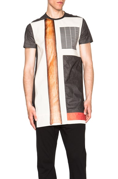 Rick Owens Graphic Cyclops Tee in Black & Natural