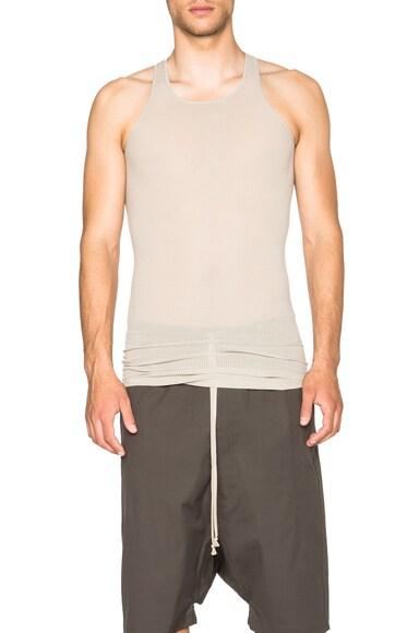Rick Owens Basic Rib Tank in Pearl