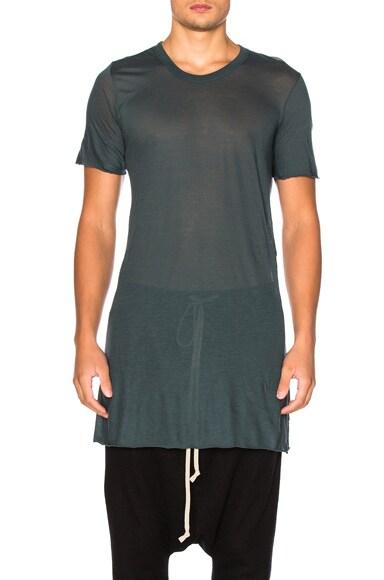 Rick Owens Short Sleeve Basic Tee in Teal
