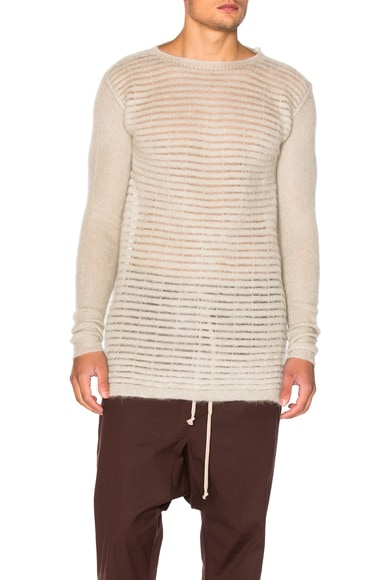Rick Owens Oversized Roundneck Top in Pearl