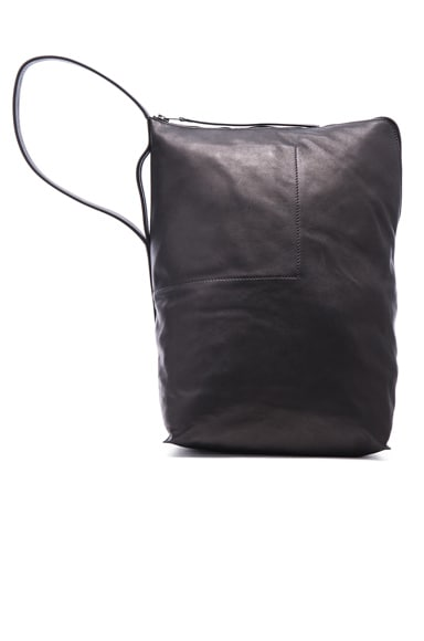 Rick Owens Large Bucket Bag in Black