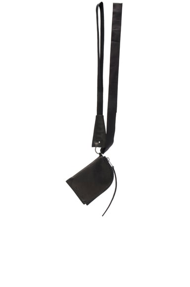 Rick Owens Portfolio Neck Wallet in Black