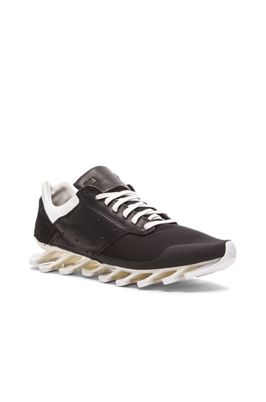 Rick Owens x Adidas Springblade Low in Black & Milk