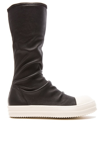 Sock Leather Sneakers