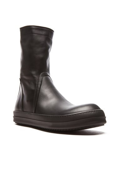 Rick Owens Basket Leather Creepers in Black