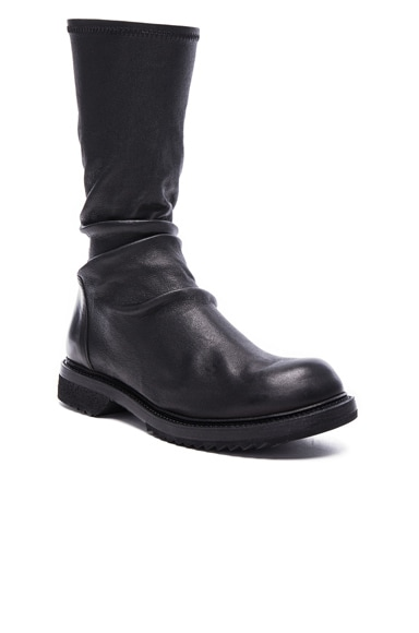Rick Owens Creeper Stretch Leather in Black