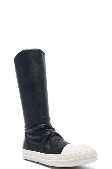 Rick Owens Sock Sneakers in Black & White