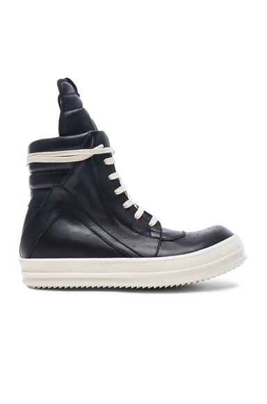 Leather Geobasket Sneakers