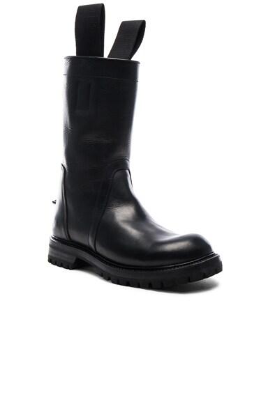 Rick Owens Goodyear Sole Biker Boots in Black