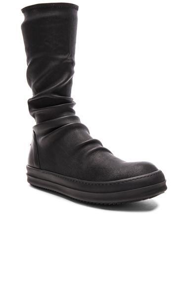 Rick Owens Sock Sneakers in Black