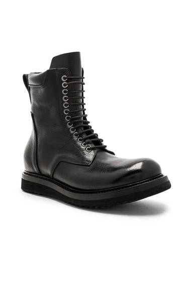 Leather Low Army Boots
