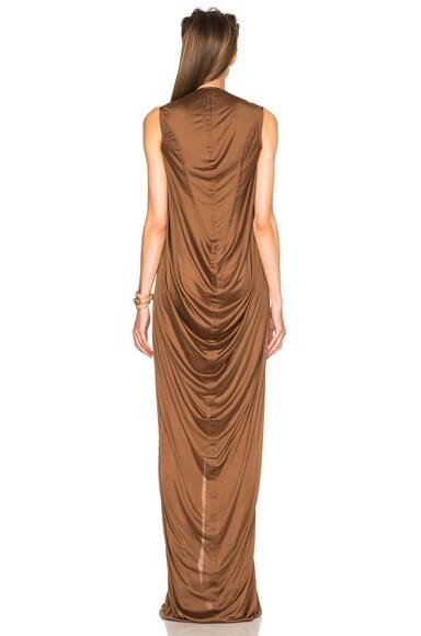 Silk Jersey V Neck Long Dress