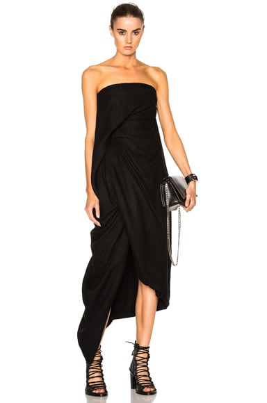 Rick Owens Twirl Strapless Dress in Black