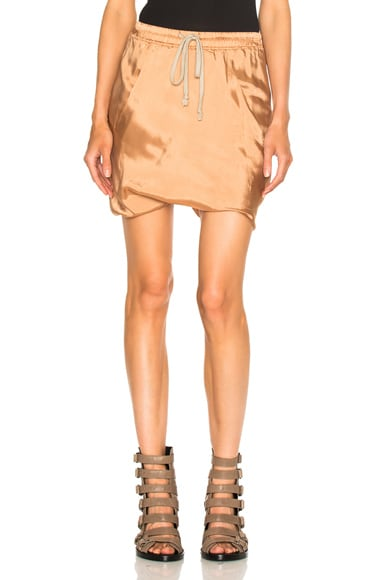 Rick Owens Bud Shorts in Nude