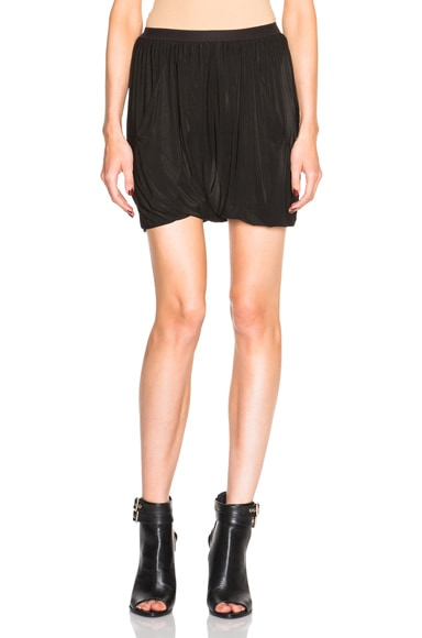 Rick Owens Bud Exposed Elastic Shorts in Black
