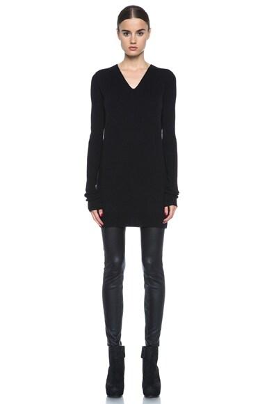 Wool Long V Neck Sweater