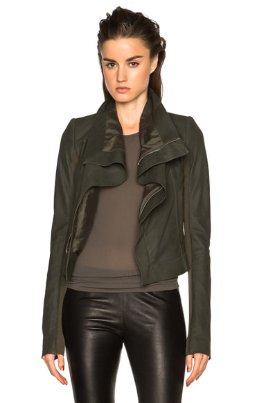 Rick Owens Nuvola Leather Classic Biker Jacket in Palm