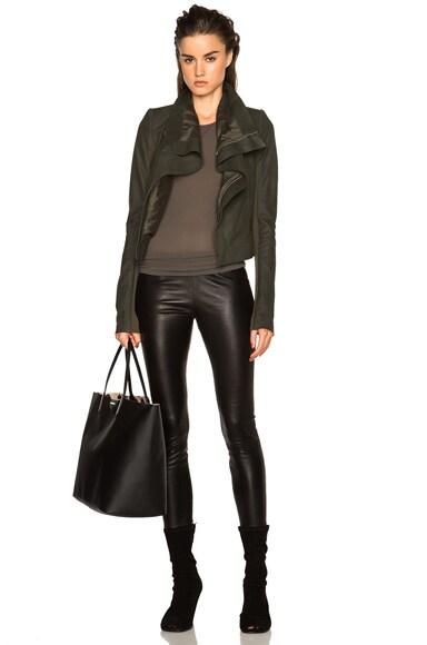 Nuvola Leather Classic Biker Jacket