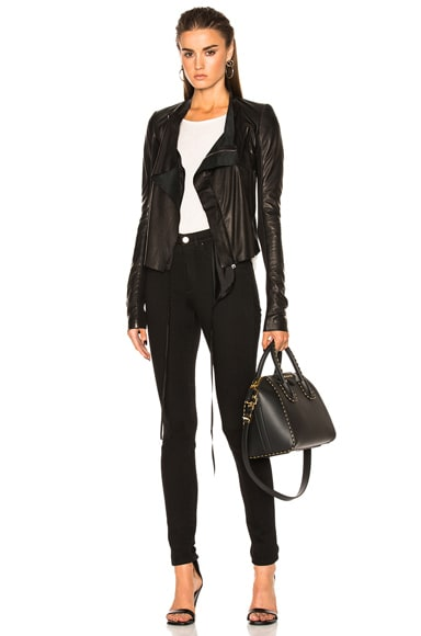 Low Neck Biker Jacket