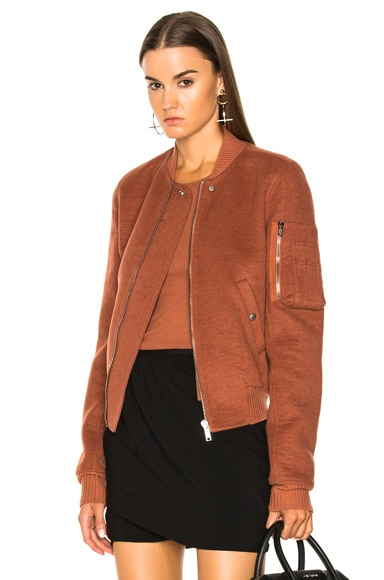 Double Cashmere Flight Bomber Jacket