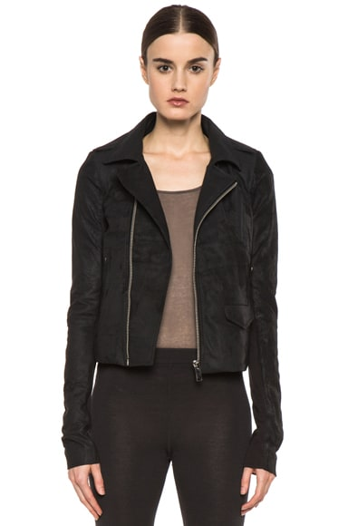 Short Stooges Lambskin Leather Moto Jacket