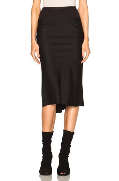Rick Owens Vincente Knee Length Skirt in Black