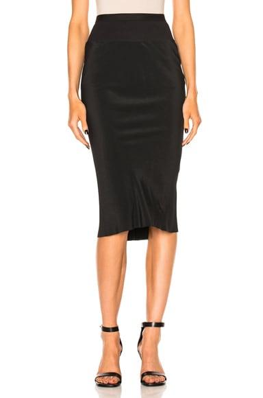 Rick Owens Knee Length Skirt in Black