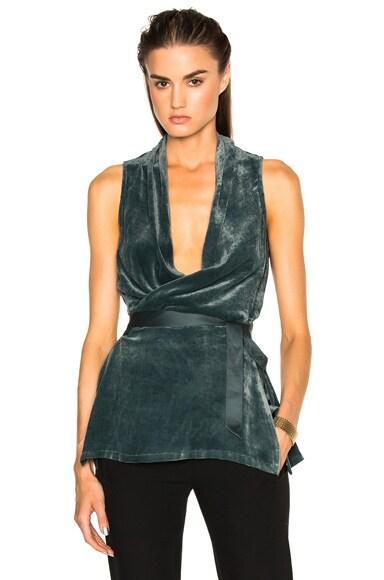 Velvet Wrap Vest Top