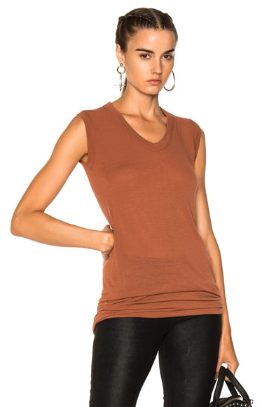 V Neck Sleeveless Tee