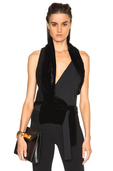 Rick Owens Limo Wrap Top in Black
