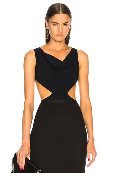 Notched Draped Swimsuit