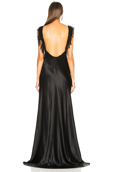 Gown with Covered Buttons