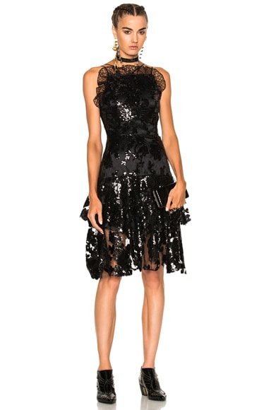 Sequin Two Tier Dress