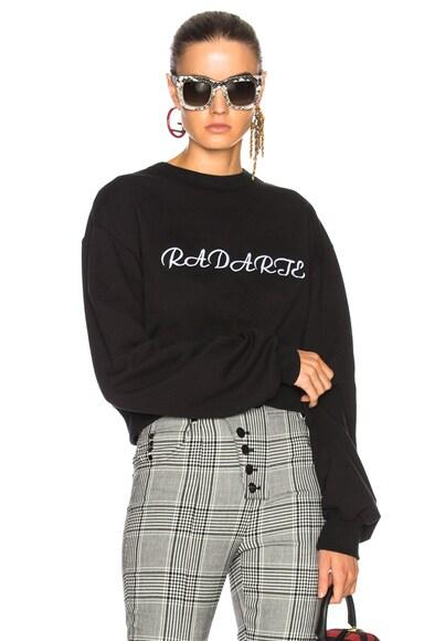 Radarte LA Embroidery Cropped Sweatshirt